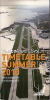 # VENICE AIRPORT TIMETABLE SUMMER 2010 Leaflet Aviation Flight Horaire Flugplan Orario Indicateur Calendario Venezia - Timetables