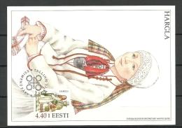 ESTLAND ESTONIA 2000 Maxikarte Trachten Folk Costumes HARGLA - Estland