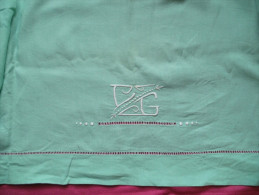 Drap Enfant Monogrammé CG Et Ajouré, Couleur Vert - Bed Sheets