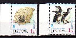 2000 Lithuania / Litauen - Pollar Animals  And Birds - 2 V   -paper MNH** MI 733-734 - Lithuania
