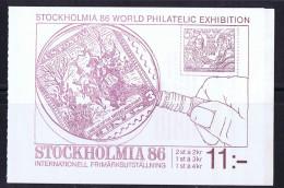 SWEDEN 1986 STOCKHOLMIA    Booklet Mi 111 - Booklets
