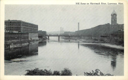MA LAWRENCE Mill Scenes On The Merrimack River  2 Cards - Lawrence