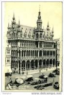 BRUXELLES - Maison Du Roi Et Marché Aux Fleurs Circulée 1954 - Markten