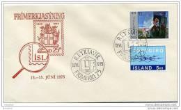 1975 Reykiavik Stamp Exhibition Commemorative Cancel - 1944-... Repubblica