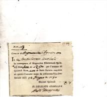 1809 Consegna Riso - Décrets & Lois