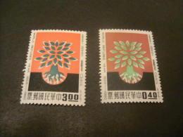 K8984- Set Mint Hinged China- 1960- SC. 1252-1253- World Refugee Year - Unused Stamps