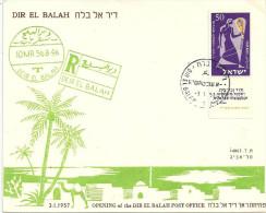 Sonderbrief  Dir El Balah  (Posteröffnung)            1957 - Brieven En Documenten