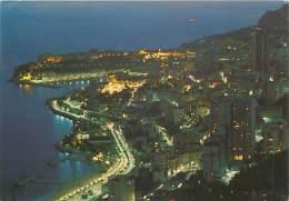 CPM - Principauté De MONACO - Vue Générale La Nuit Sur Monte-Carlo Et Monaco - Monaco