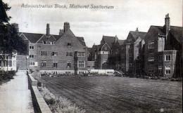 "Old Postcard : ""Administration Block, Midhurst Sanatorium"" Sussex - Message Relates - England"