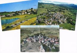 LA TOUR D'AUVERGNE .63. Plan D'eau . Vue Aerienne .(place Du Village  .avec Trace De Pli) - Autres Communes