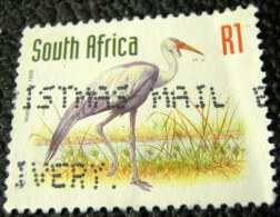 South Africa 1998 Wattled Crane R1 - Used - Used Stamps