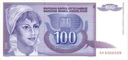 YOUGOSLAVIE  100  Dinara   Emission De 1992  Pick 112      *****  BILLET  NEUF   ***** - Yougoslavie