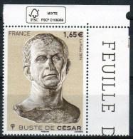 """FRANCE 2014 / NC  """" BUSTE DE CESAR """" / COIN DE FEUILLE NEUF AVEC SIGLE FSC - Nuovi"""
