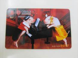 Calendar Card Of 2007 By  Bank Of China - Otras Colecciones
