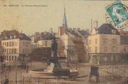 23136 MELUN - La Place Saint Jean - EdSaussier Gare D M - Attelage -montage De Bois ? Pour Une Arene ? - Melun