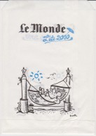 France - Paper Bag About The Newspaper Le Monde From Summer 2010 - Reclame