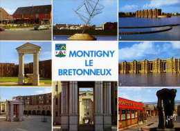 78 MONTAGNY LE BRETONNEUX Centre Commercial La Mare Caillon, Le Montagny, Sculpture De Vanthienn Viaduc Arcades Du Lac - Montigny Le Bretonneux