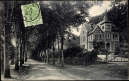 Cp Spa Lüttich, Avenue De Barisart, Straßenpartie Mit Hausansicht - Autres