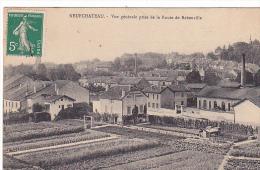 23156 Neufchateau Vue Générale Prise Route Rebeuville  -ed Maison Des ;.. Reunis -graines Potageres Nicolle Jardinier