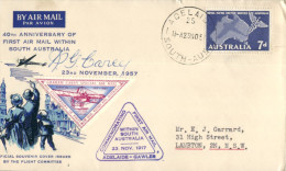 (663) Australia - First Air Mail In South Australia Commemoration - Adelaide To Gawler - 1917 - 1957 - Transports