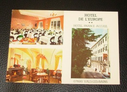 Hotel De L'europe - 83 Rue Jean Jaurès - 07600 Vals Les Bains - Non Classificati