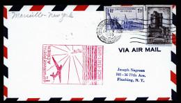 A2597) France Frankreich Erstflugbrief First Flight Marseille New York 24.05.1939 - Luftpost