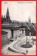 [DC6176] AUSTRIA - VIENNA - WIEN - FRANZENSRING UND PARLAMENT - Viaggiata 1908 - Old Postcard - Vienna