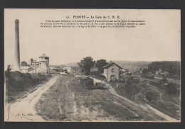 DF / 51 MARNE / FISMES / LA GARE C.B.R. ET LA SUCRERIE NOUVELLE / CIRCULÉE EN 1917 - Fismes