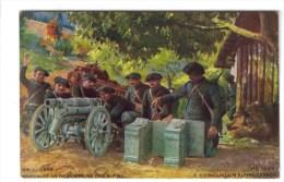 CPA MILITAIRE MATERIEL GUERRE DE 1914 -18 - Chasseurs Alpins : Canon De 65 M/m De Montagne En Batterie - Matériel