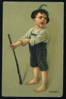 Kaulbach, H. - Boy ------- Postcard Traveled - Kaulbach, Hermann