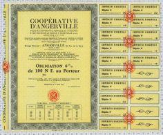 Coopérative D'Angerville, Seine Et Oise (blanquette) - Banque & Assurance