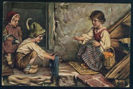 Kaulbach, H. - Der Ungeschickte Helfer. L'aide Maladroit. Un Assistente Inetto.  ------- Postcard Not Traveled - Kaulbach, Hermann