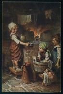 Kaulbach, H. - Grosse Wasche. - Deutsche Kunst  Nr. 557 ------- Postcard Not Traveled - Kaulbach, Hermann