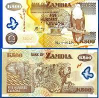 Zambie 500 Kwacha 2011 UNC Neuf Aigle Animal Polymere Polymere Afrique Africa Paypal Skrill Bitcoin OK! - Zambie