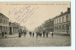 VALENCIENNES - Avenue De Saint Amand , Vue De La Croix D' Anzin - Animation Devant Hôtel De Emile Maerten - 2 Scans - Valenciennes