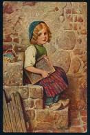 Kaulbach, H. - La Petite Marguerite - Margaritecita  ------- Postcard,traveled - Kaulbach, Hermann