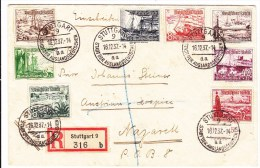ALLEMAGNE SERIE DES BATEAUX ......SUR LETTRE - Alemania