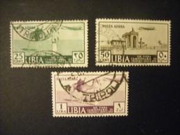 LIBIA - 1939, FIERA DI TRIPOLI, AEREA,  Sass. N. A38/40, Serie Cpl., Usato, Al Prezzo Più Basso Del Web - Libia