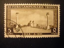 LIBIA - 1938,  FIERA DI TRIPOLI, Sass. N. 146, Cent. 5 Bruno, Usato,al Prezzo Più Basso Del Web - Libyen