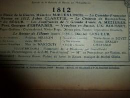 1912  Le Château De ROSTOPCHINE ; Napoléon En RUSSIE ;  La MOSKOVA Et Le Monument ; Le Passage De La Bérésina - Journaux - Quotidiens