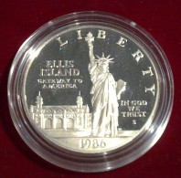 Statue Of Liberty Ellis Island Silver One Dollar US Coin 1986 - Emissioni Federali