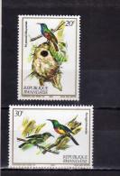REPUBLIQUE RWANDAISE RWANDA 1983 ANGOLA ROYAL Nectar-sucking BIRDS ANIMALS FAUNA NATURE UCCELLI SUCCHIATORI  MNH - Rwanda