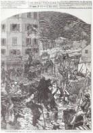 Gravure Ancienne 1876 Alfortville    INONDATION  DE LA SEINE     Sauvetage    Par La Garnison Charenton - Ohne Zuordnung