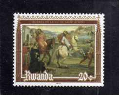 REPUBLIQUE RWANDAISE RWANDA 1981 PAINTING And Frescoes Of St. Benedict: Leaving His Parents DIPINTO SAN FRANCESCO MNH - Rwanda