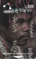 SOLOMON ISL.(GPT) - Man From Santa Ana Island, CN : 02SDB/B, Used - Solomon Islands