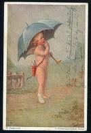 Fialkowska,W. - In Erwartung Besserer Zeitren ------ Postcard Traveled - Fialkowska, Wally