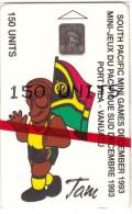 VANUATU - South Pacific Mini Games/Tam & Flag, CN : C3A000596, Tirage 5000, 10/93, Mint - Vanuatu