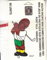 VANUATU - South Pacific Mini Games/Golf, CN : C3A000601, Tirage 3000, 10/93, Mint - Vanuatu