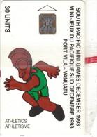 VANUATU - South Pacific Mini Games/Athletics, CN : C3A000603, Tirage 3000, 10/93, Mint - Vanuatu