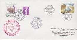 PLIS ARCTIQUE   ISLAND 10 °ANNIVERSAIRE Spp J-b Charcot  +  REYJAVIK 16-9-1991 - Island